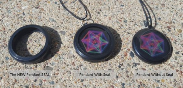 image of black pendants with cord